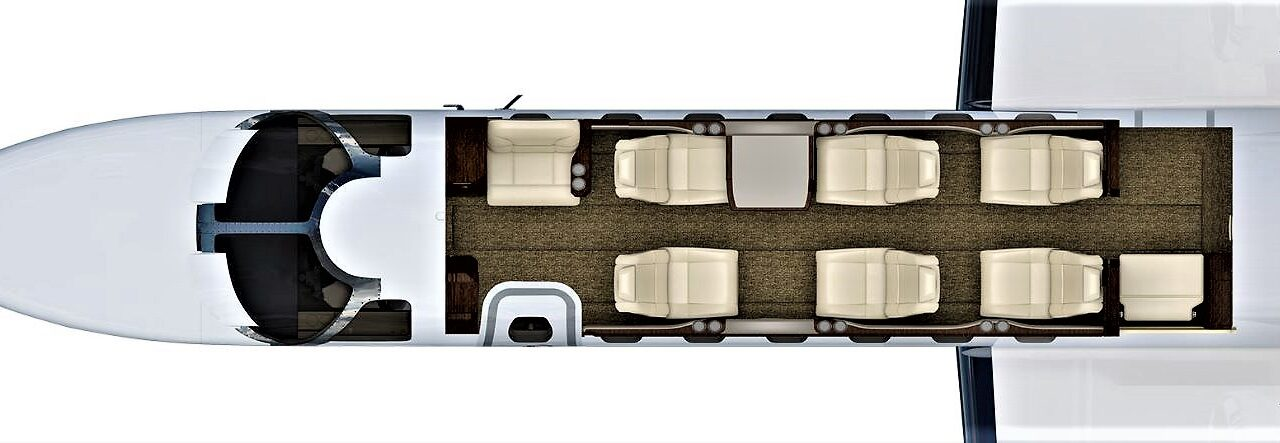 CJ3 cabin layout