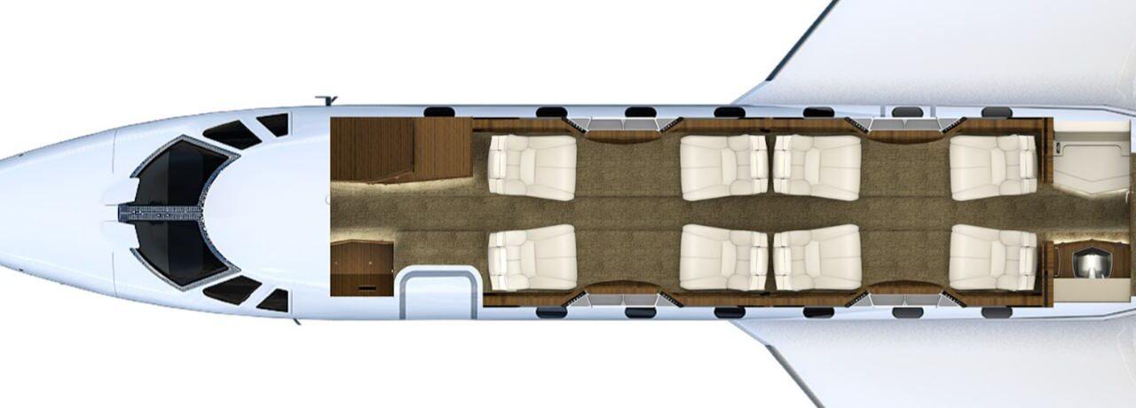 Citation X interior layout (1) (1)