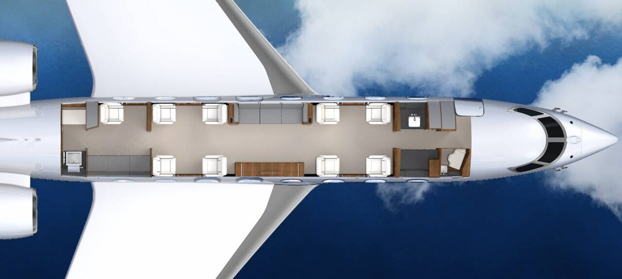 Gulfstream G650 14 passenger floorplan (1) (1)